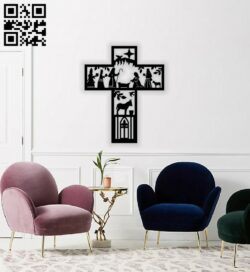 Cross story Jesus E0014420 file cdr and dxf free vector download for laser cut plasma