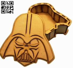 Dark Vader box E0014119 file cdr and dxf free vector download for laser cut