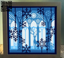 Deer in the palace light box E0014250 file cdr and dxf free vector download for laser cut