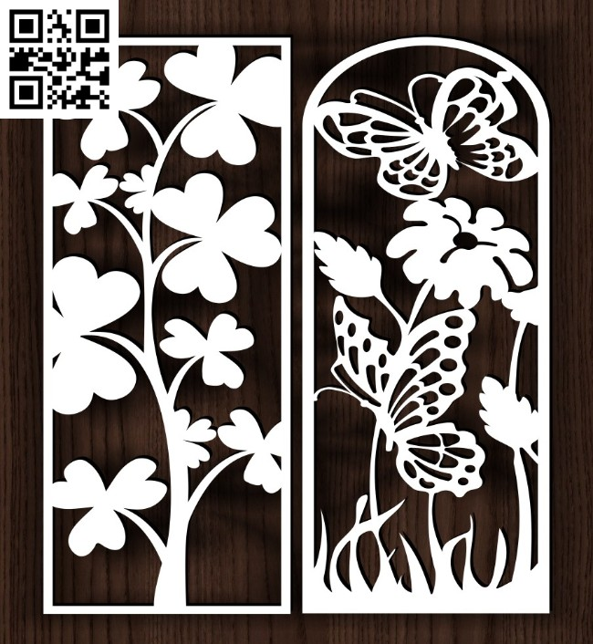 Design pattern screen panel E0014219 file cdr and dxf free vector download for laser cut cnc