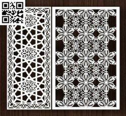 Design pattern screen panel E0014220 file cdr and dxf free vector download for laser cut cnc