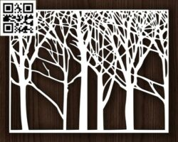 Design pattern screen panel E0014311 file cdr and dxf free vector download for laser cut cnc