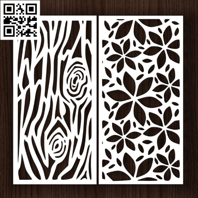 Design pattern screen panel E0014312 file cdr and dxf free vector download for laser cut cnc