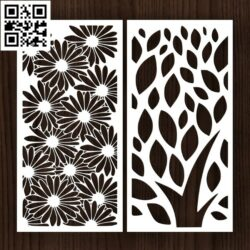 Design pattern screen panel E0014313 file cdr and dxf free vector download for laser cut cnc
