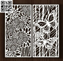 Design pattern screen panel E0014397 file cdr and dxf free vector download for laser cut cnc