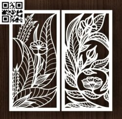 Design pattern screen panel E0014398 file cdr and dxf free vector download for laser cut cnc