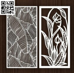 Design pattern screen panel E0014399 file cdr and dxf free vector download for laser cut cnc