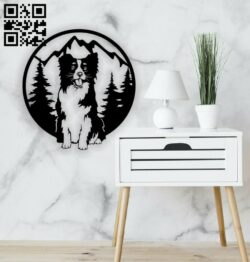 Dog in forest  E0014373 file cdr and dxf free vector download for laser cut plasma