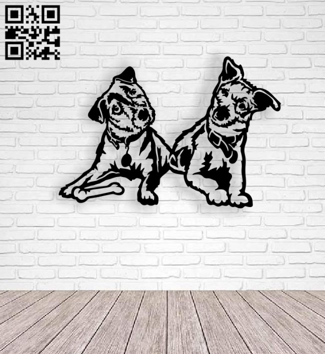 Dogs E0014160 file cdr and dxf free vector download for laser cut plasma