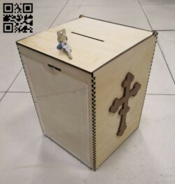 Donation box E0014292 file cdr and dxf free vector download for laser cut