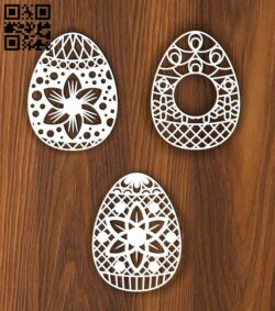 Easter eggs E0014228 file cdr and dxf free vector download for laser cut plasma