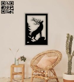 Elk wall decor E0014098 file cdr and dxf free vector download for laser cut plasma