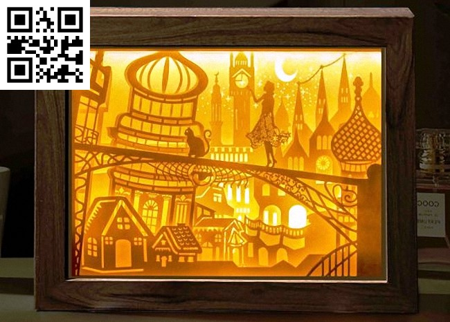 Festival under the moon light box E0014151 file cdr and dxf free vector download for laser cut