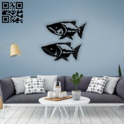 Fish E0014439 file cdr and dxf free vector download for laser cut plasma