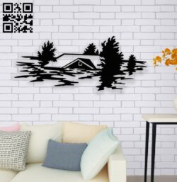 Flooded home E0014157 file cdr and dxf free vector download for laser cut plasma