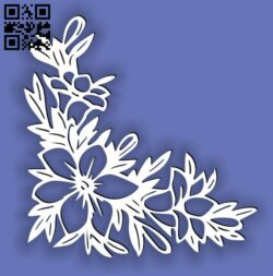 Floral flowers E0014444 file cdr and dxf free vector download for laser cut plasma