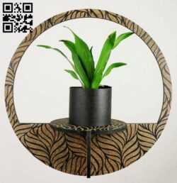 Flower shelve E0014100 file cdr and dxf free vector download for laser cut