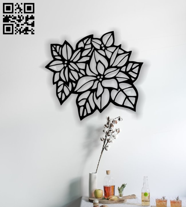 Flowers E0014128 file cdr and dxf free vector download for laser cut plasma
