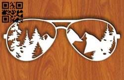 Forest and mountain In sunglass E0014372 file cdr and dxf free vector download for laser cut plasma