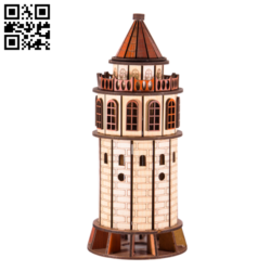 Galata Tower E0014334 file cdr and dxf free vector download for laser cut