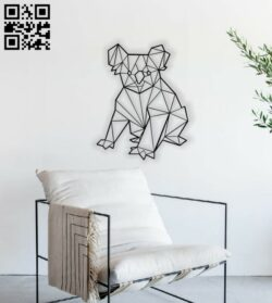 Geometric Koala E0014123 file cdr and dxf free vector download for laser cut plasma