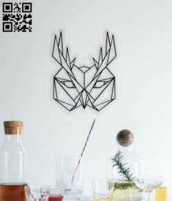 Geometric Owl E0014127 file cdr and dxf free vector download for laser cut plasma