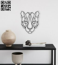 Geometric Tiger E0014124 file cdr and dxf free vector download for laser cut plasma