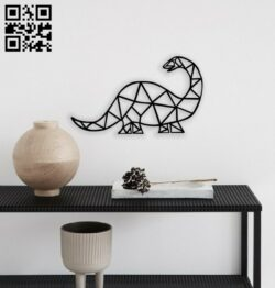 Geometric dinosaur E0014298 file cdr and dxf free vector download for laser cut plasma
