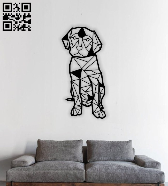 Geometric dog E0014224 file cdr and dxf free vector download for laser cut plasma