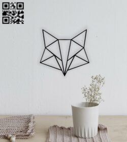 Geometric fox E0014297 file cdr and dxf free vector download for laser cut plasma