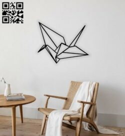 Geometric paper bird E0014296 file cdr and dxf free vector download for laser cut plasma