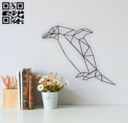 Geometric penguin E0014295 file cdr and dxf free vector download for laser cut