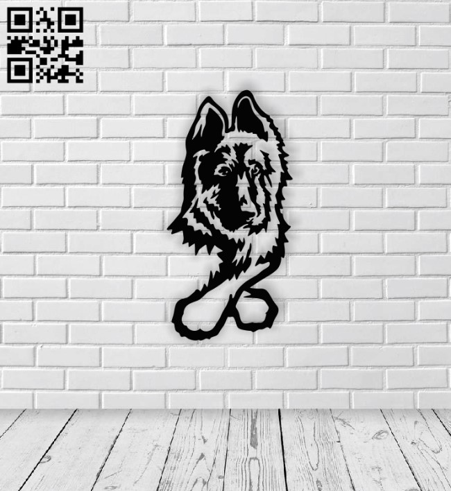 German shepherd dog E0014161 file cdr and dxf free vector download for laser cut plasma