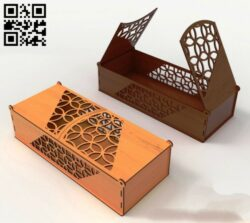 Gift box E0014206 file cdr and dxf free vector download for laser cut