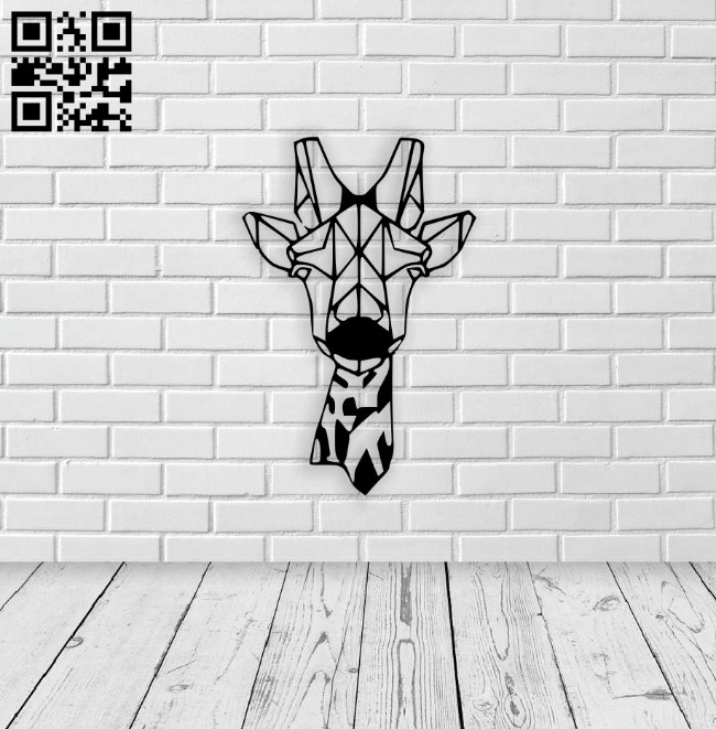 Giraffe wall decor E0014323 file cdr and dxf free vector download for laser cut plasma