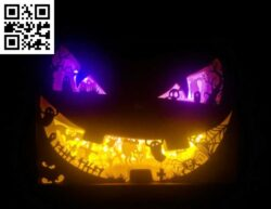 Halloween light box E0014150 file cdr and dxf free vector download for laser cut