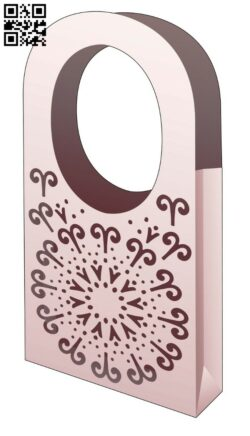 Handle bag E0014461 file cdr and dxf free vector download for laser cut