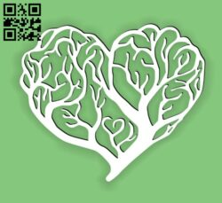 Heart tree E0014429 file cdr and dxf free vector download for laser cut plasma