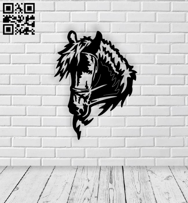 Horse E0014184 file cdr and dxf free vector download for laser cut plasma