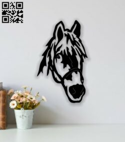 Horse head E0014214 file cdr and dxf free vector download for laser cut plasma