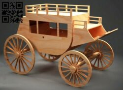 Horse wagon E0014239 file cdr and dxf free vector download for laser cut