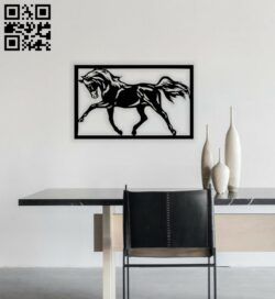 Horse wall decor E0014414 file cdr and dxf free vector download for laser cut plasma