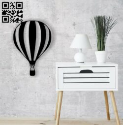 Hot air balloon wall decor E0014453 file cdr and dxf free vector download for laser cut plasma