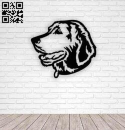 Labrador retriever dog E0014180 file cdr and dxf free vector download for laser cut plasma