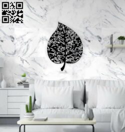 Leaf wall decor E0014143 file cdr and dxf free vector download for laser cut plasma