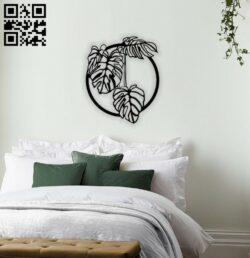 Leafs wall decor E0014339 file cdr and dxf free vector download for laser cut plasma