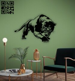 Leopard wall decor E0014342 file cdr and dxf free vector download for laser cut plasma