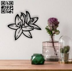 Lily flowers E0014245 file cdr and dxf free vector download for laser cut plasma