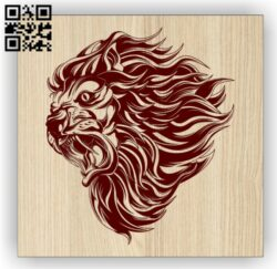 Lion E0014287 file cdr and dxf free vector download for laser engraving machine
