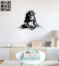 Lord Shiva wall decor E0014260 file cdr and dxf free vector download for laser cut plasma